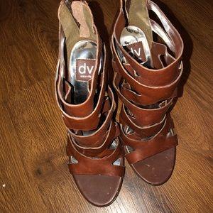 Brown DV Dolce Vita heeled sandals